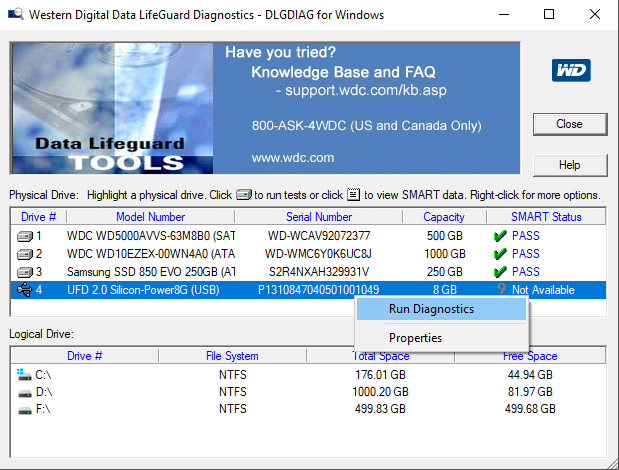data lifeguard diagnostics software
